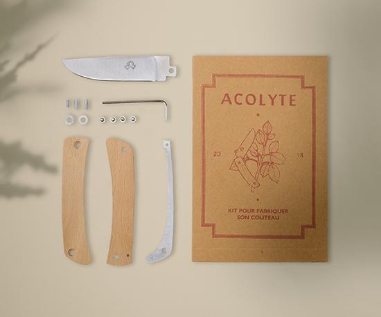 kit couteau acolyte - hêtre
